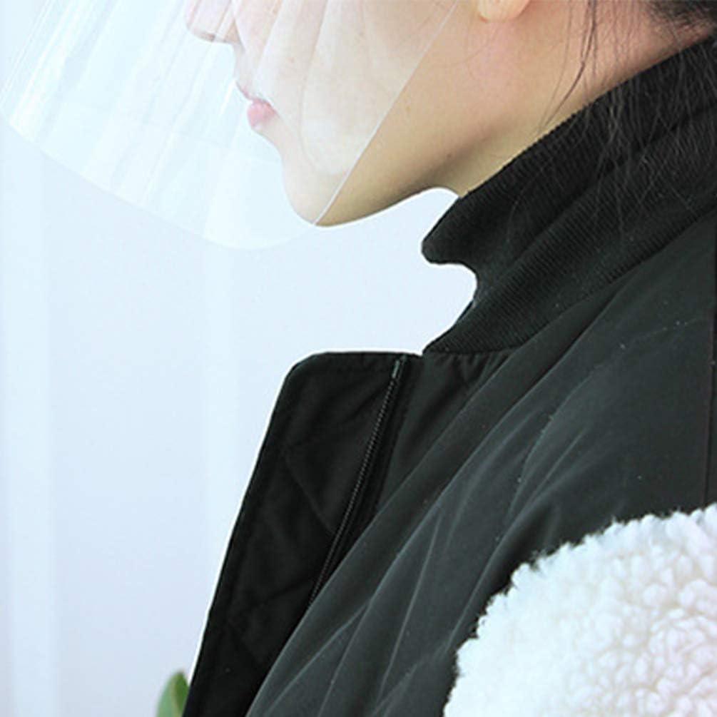 OSALADI Visiera di Sicurezza Visiera Coprisole Cappello da Sole Cappuccio Protettivo Integrale Antiappannamento Antipolvere Antipolvere