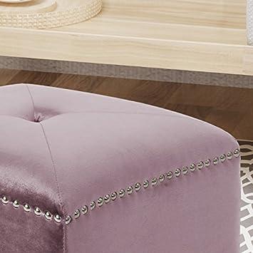 Christopher Knight Home 304811 Allen Glam Velvet Ottoman, Lilac,
