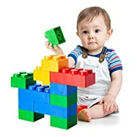 UNiPLAY Jumbo Multi-Color Soft Building Blocks with 2 Different Sizes for Ages 3 Months &Up Toddler and Baby Non-Toxic & BPA-Free Developmental, Educational, Creative Toy-36 Pieces Set
