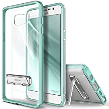 Galaxy Note 5 Case, OBLIQ [Naked Shield][Mint] - with Kickstand Thin Slim Fit TPU Bumper Hard Hybrid Shock Resist Protective Clear Case