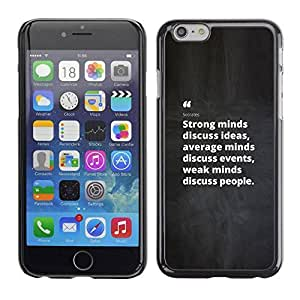 LASTONE PHONE CASE / Slim Protector Hard Shell Cover Case for Apple Iphone 6 / Inspiring Black White Message
