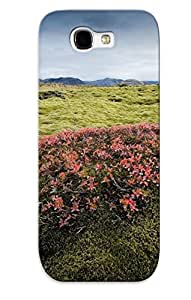 Durable Protector Case Cover With Blooming Mountain Top Bush Hot Design For Galaxy Note 2 (ideal Gift For Lovers)