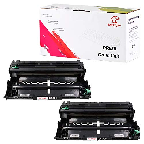 Compatible Brother TN850 TN820 Toner & DR820 Drum Unit Set Replacement for Brother DR-820 TN-850 TN-820 by UniVirgin (2 x Drum)