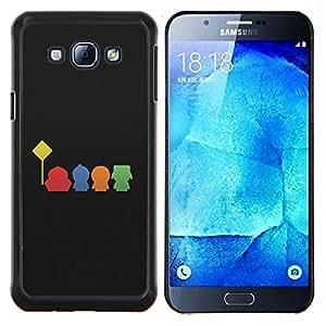 S0uth Park Boys- Metal de aluminio y de plástico duro Caja del teléfono - Negro - Samsung Galaxy A8 / SM-A800