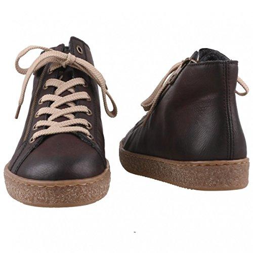 Sneaker Alta Rieker Da Donna Marrone