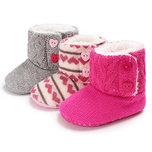 KKBRAND Baby Booties (Hot Pink) Infant Girl Booties