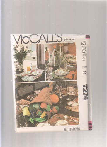 McCall's Holiday Table Settings 7274 ; Christmas, Thanksgiving, Cornucopia & Vegetables, Tree 17