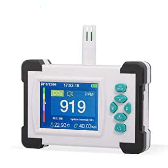LCD Display CO2 Detector for Home Digital Gas Analyzer Monitor Air Quality Meter Tester Indoor Outdoor Yuhoo Air Quality Monitor