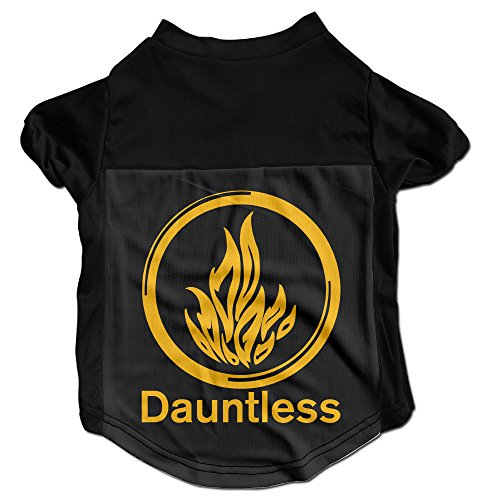 HROSE Dauntless Symbol (the Brave) Puppies And Dog Jersey Shirt Small (Synonym For Merchandise)