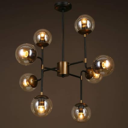 Lámparas colgantes Lámparas de hierro, Multi-cabeza Lámpara ...