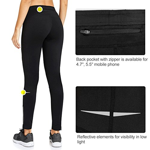 0a2837ee706dc Baleaf Women's Cycling Running Athletic Thermal Fleece Tights Black Size M
