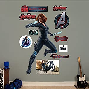Fathead avengers black widow age of ultron for Avengers wall mural amazon