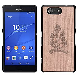 - / Cool Sunglasses Summer Dude - - Funda Delgada Cubierta Case Cover de Madera / FOR Sony Xperia m55w Z3 Compact MiniSony Xperia m55w Z3 Compact Mini / Jordan Colourful Shop/