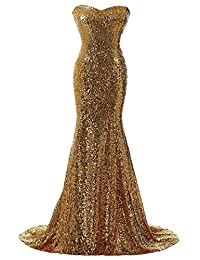 Rongstore® Women's Mermaid Sequins Long Evening Gown For Formal Party