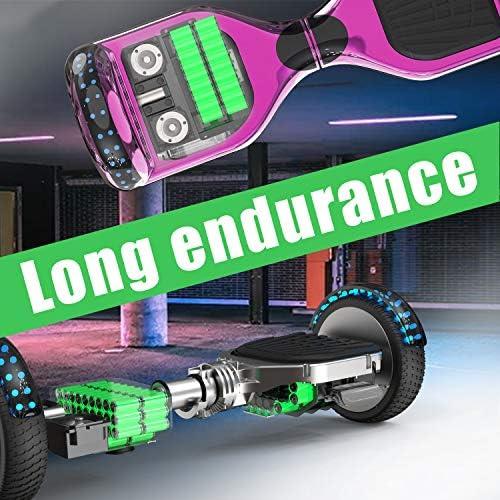 MARKBOARD Hoverboard, Bluetooth 6.5 Pouces Self Balancing Scooter Overboard Enfant Gyropode Hoverboard Tout terrains avec Roues Flash LED E-Scooter Auto-équilibrage,Cadeau pour Les Enfants