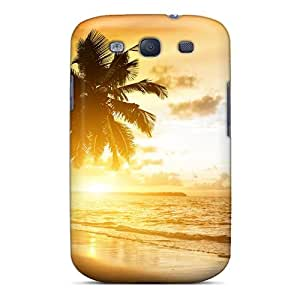 Fashion RGecYyz7122FbWAY Case Cover For Galaxy S3(coconut Beach Sunrise)