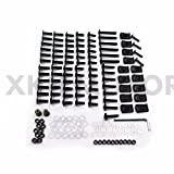 XKH GROUP Motorcycle Complete Fairing Bolts Screws Fasteners Kit For Honda CBR 954 RR 900 929RR Black new