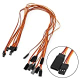 Kocome 10Pcs 500mm Extension Servo Wire Lead Cable For RC Futaba JR 15cm Male to Female