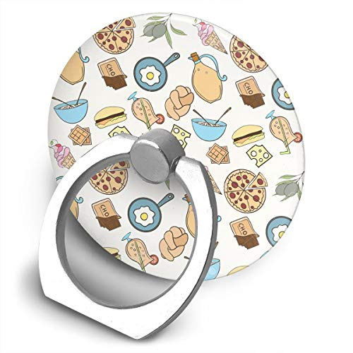 Charm Watch Ice Cream - Round Finger Ring Stand Phone Holder Grip Seamless Food 360°Rotation Kickstand for Smartphones and IPad