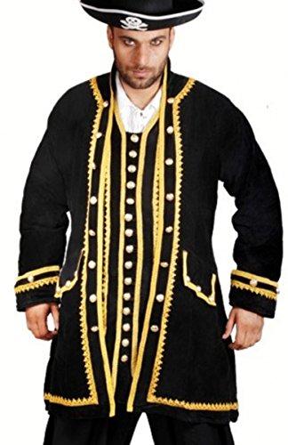 Captain Peter Piraten Mantel - Black, Grösse:XL