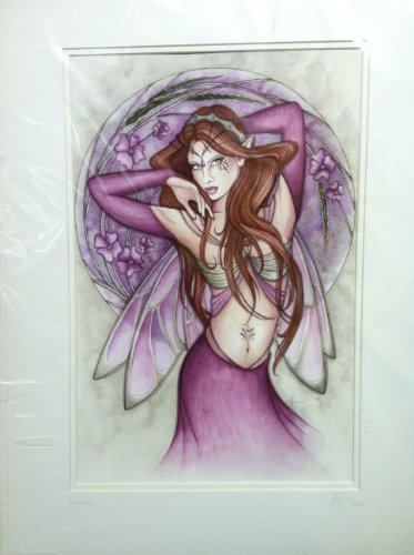 Vervain Jessica Galbreth Signed OOAK Giclee Matted Fairy Print 18