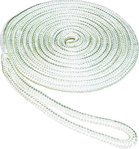 (SeaSense Double Braid Nylon Dock Line, 1/2-Inch X 15-Foot,)