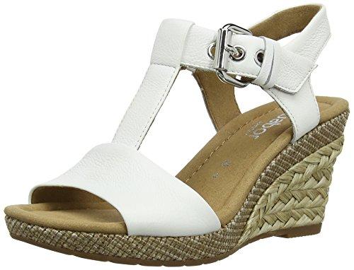 Gabor Karen Leather Buckle Wedges Womens Sandals