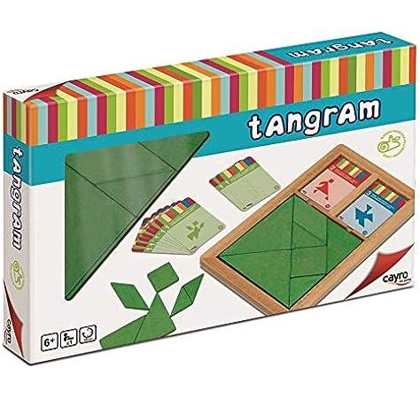 Cayro - Tangram Madera Infantil - Juego de razonamiento y Creatividad - Juego de Mesa - Desarrollo de Habilidades cognitivas e inteligencias múltiples - Juego de Mesa (852): Amazon.es: Juguetes y juegos