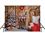 fireplace and t - Kate 10ft(W)x6.5ft(T) Christmas Photography Backdrops Fireplace Xmas Photo Backdrops Christmas Home Decoration