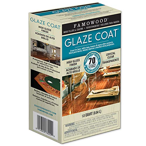 FamoWood 5050080 Glaze Coat Epoxy Kit - 1 Quart, Clear