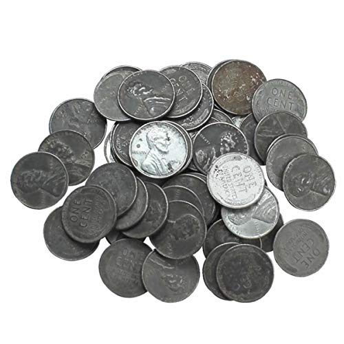 1943 - U.S. Lincoln Wheat Back Steel Cents 50 Pennies Lot Quality ()