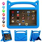 All New F i r e 7 2017 Kids Case, YooNow F i r e 7 2015 Light Weight Friendly Anti Slip Shock Proof Protective Cover Case for F i r e 7 Tablet (Compatible with 7th Gen, 2017/5th Gen, 2015) (Blue)