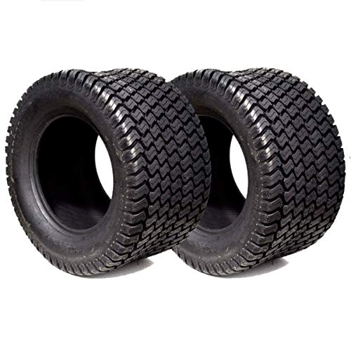 - 2PK 18X6.50-8 18X650-8 18/6.50-8 18X6.50X8 4PLY Rated Tubeless Turf Trac Riding Lawn Mower Tractor Tires