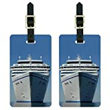 Cruise Ship on Ocean - Vacation Luggage Tags Suitcase Carry-On ID Set of 2
