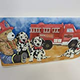Dalmations with Teddy Bear and Fire Truck Wall Border