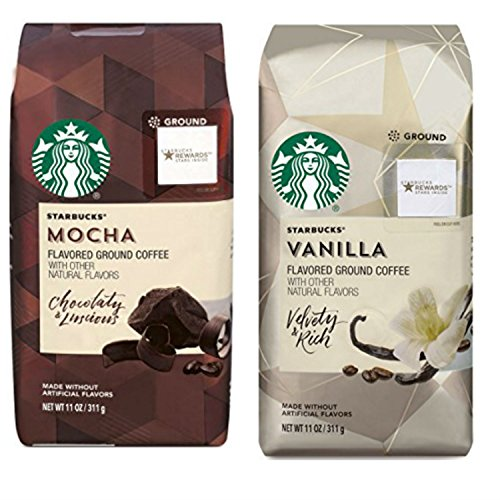 Starbucks Flavored Ground Coffee Variety Pack. Convenient One-Stop Shopping for Ultra Popular Starbucks Coffee Mocha and Ground Vanilla Blends. Journey to a Coffee Paradise Without Leaving Home. (Where To Buy Artificial Tree)
