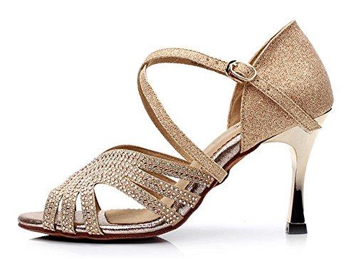 Zapatos femeninos suaves de la danza / zapatos de la danza de la muchacha Gold