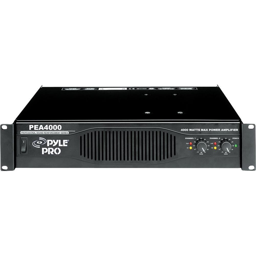 Pyle PEA4000 2.0 Alámbrico Negro - Amplificador de audio (2.0 channels, 4000 W, 0,08%, 103 dB, 400 W, 260 W): Amazon.es: Electrónica