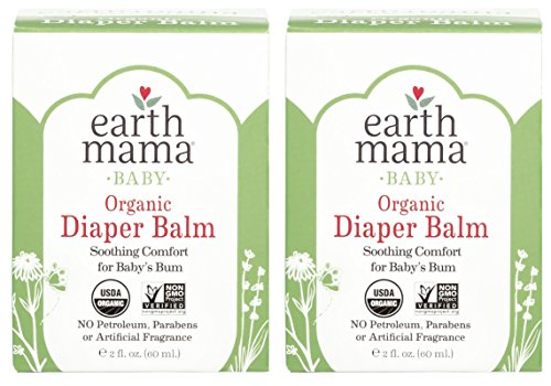 Bottom Cream (Organic Diaper Balm by Earth Mama | Safe Calendula Cream to Soothe and Protect Sensitive Skin, Non-GMO Project Verified, 2-Fluid Ounce (2-Pack))