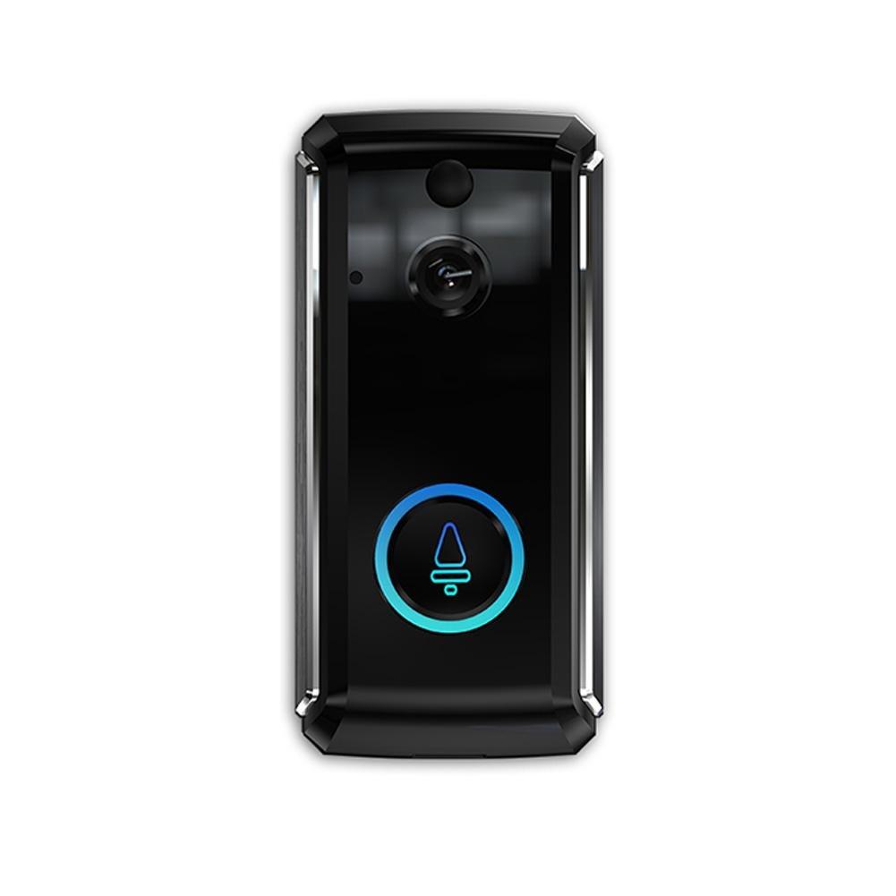 Là Vestmon Drahtlose Drahtlose WiFi-Smartphone-Gegensprechanlage mit Foto-Türklingel für Echtzeitvideo und wechselseitige Unterhaltung mit iOS und Android, Nachtsicht und PIR-Bewegungserkennung