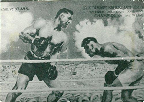 - Vintage photo of Jack Dempsey, boxing