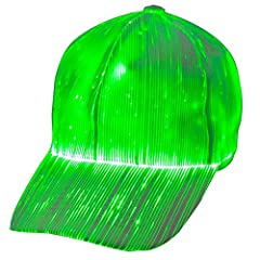 A novelty cap let you become a eye catcher ! Make you standing out in a crowd.  Our fiber optic blinking cap is perfect used for DJ set, Concerts, Bars, Clubs, Rave, Party, Halloween, Costume Parties, Masquerades, Mardi Gras, Rave Festivals, ...