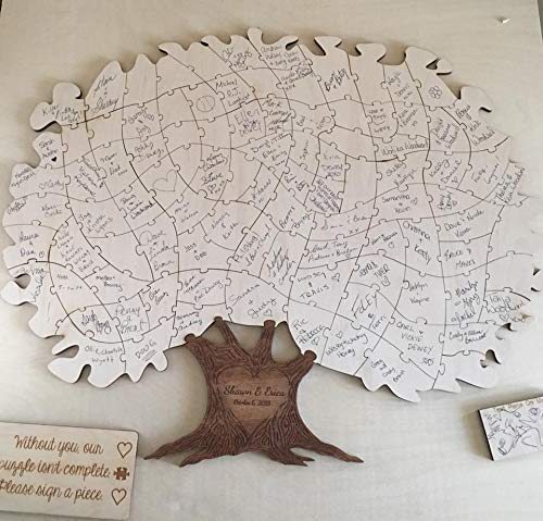 Wooden Tree Puzzle Guest Book Alternative | Personalized Wedding Guestbook