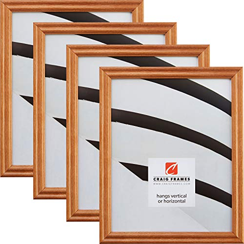 (Craig Frames 200ASH105 11 x 14 Inch Picture Frame, Natural Brown, Set of 4)
