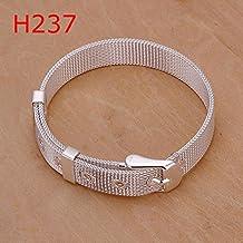 Dancing Zone Zh237 Sale 925 Silver Charm Bracelet / / Silver 10Mm Small Mesh Bracelet Bracelet