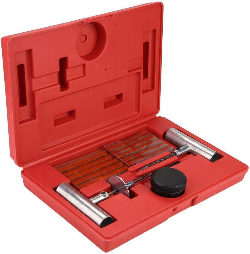 kit di strumenti di riparazione pneumatici tubeless per auto 35Pcs Set di strumenti di riparazione della spina di gomma piatta e foratura Strumento di riparazione pneumatici