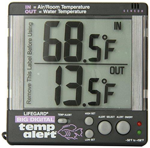 Lifegard Aquatics Digital Temp Alert - Digital Aquarium Thermometer Fish