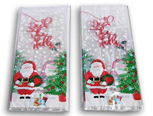 (Christmas Santa Themed Loot Treat Bags - 50 Pack)