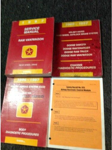 1997 DODGE RAM VAN WAGON Service Repair Shop Manual Set W Diagnostics + Recall Dodge Ram Van Wagon