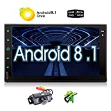 Android 8.1 Car Stereo with GPS Navigation Double Din Car Radio 2G RAM 7 Inch Touch Screen Autoradio in Dash Bluetooth Radio 2 Din Head Unit WiFi Free Rear Camera USB SD Support OBD2/4G/Phone Mirror